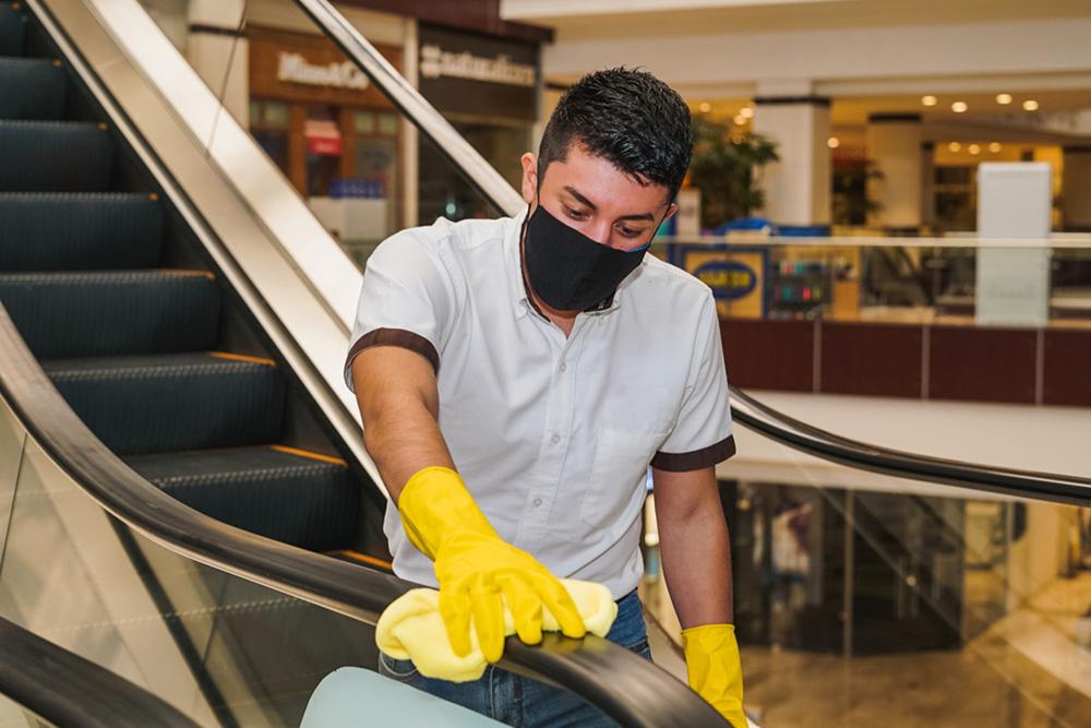 Limpeza de shoppings centers na pandemia da Covid-19